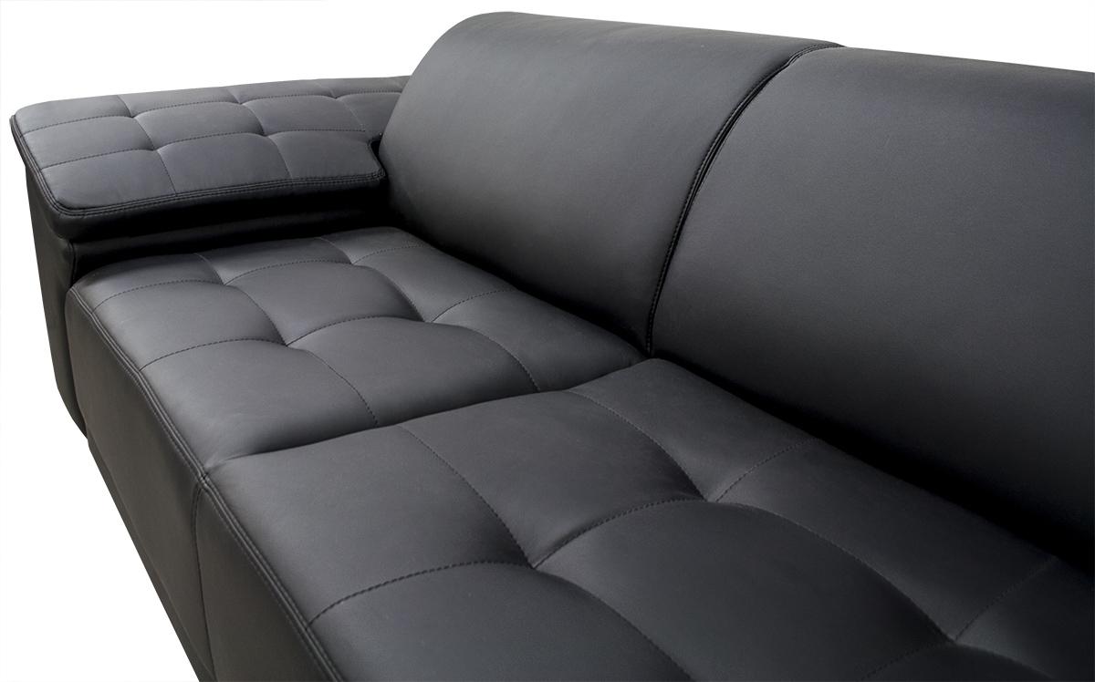 zestaw chester sofa 3 osobowa ekoskóra z boku