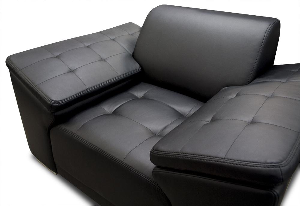 zestaw chester fotel ekoskóra czarna