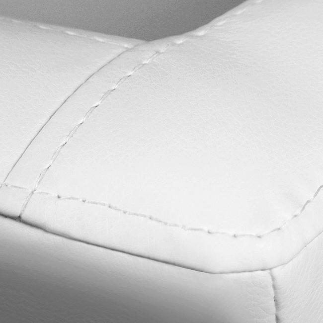 fotele future białe dwuigła przeszycie