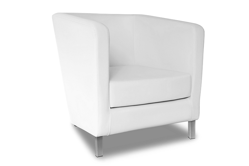 fotel future biały skos przód