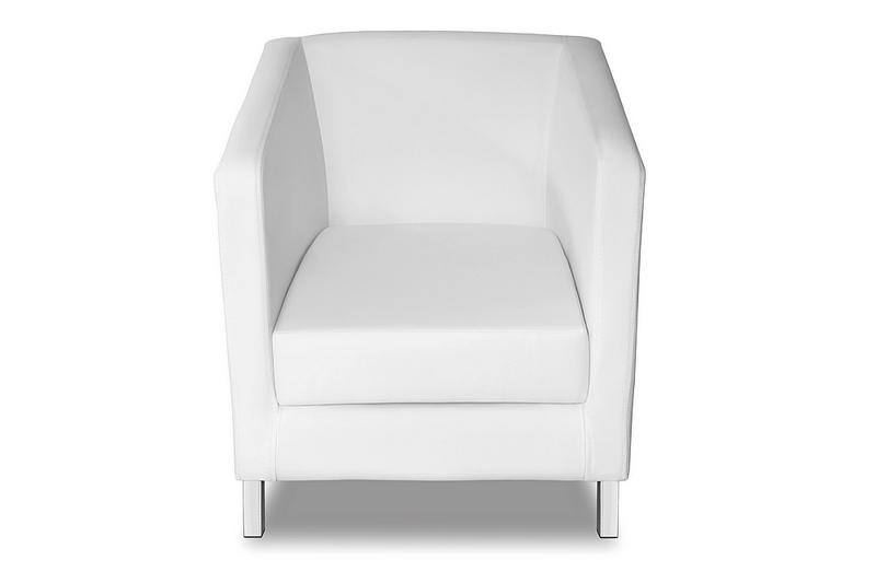 fotel future biały od przodu