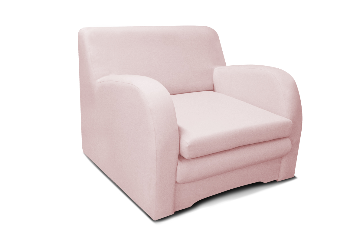 fotel koko 1 os różowa tapicerka