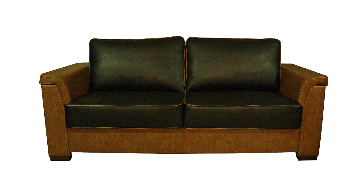 meble norbo sofa czarno brązowa