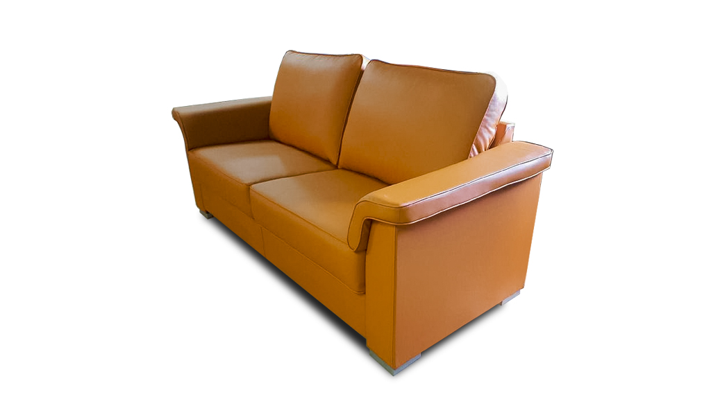 meble norbo sofa pomarańczowa skóra