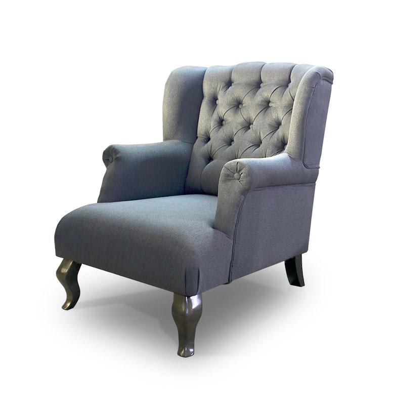 fotel Pellona szara skos