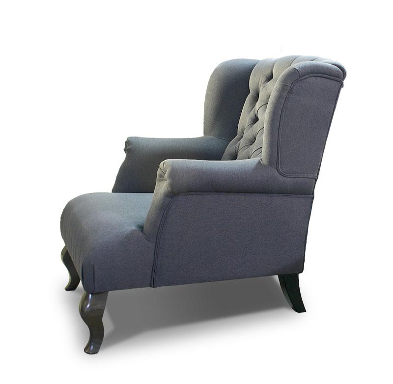 fotel Pellona szara bok
