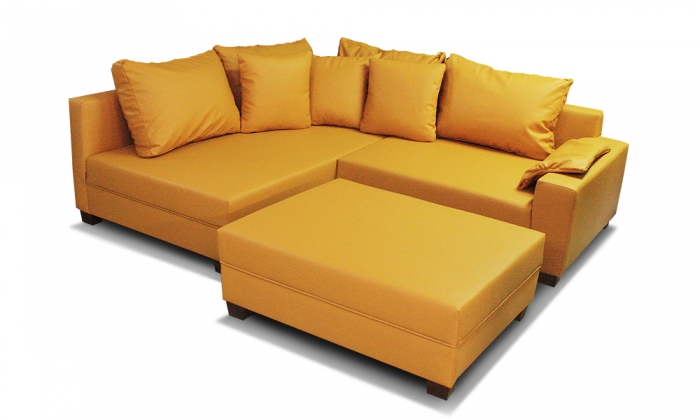 meble tahoma narożnik złoty kolor