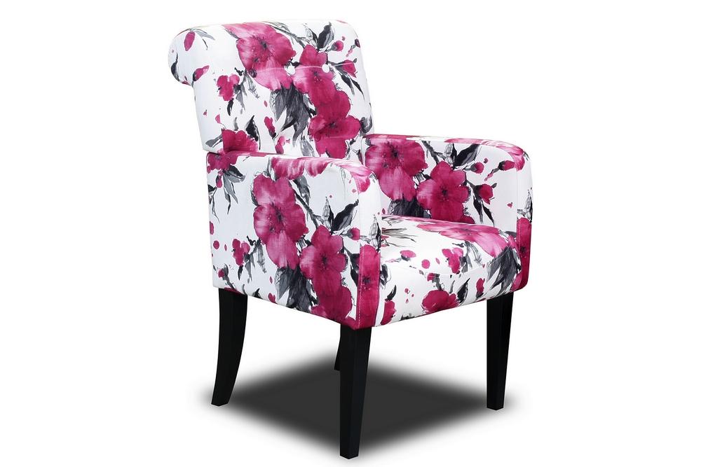 fotel styl art deco kwiaty przód