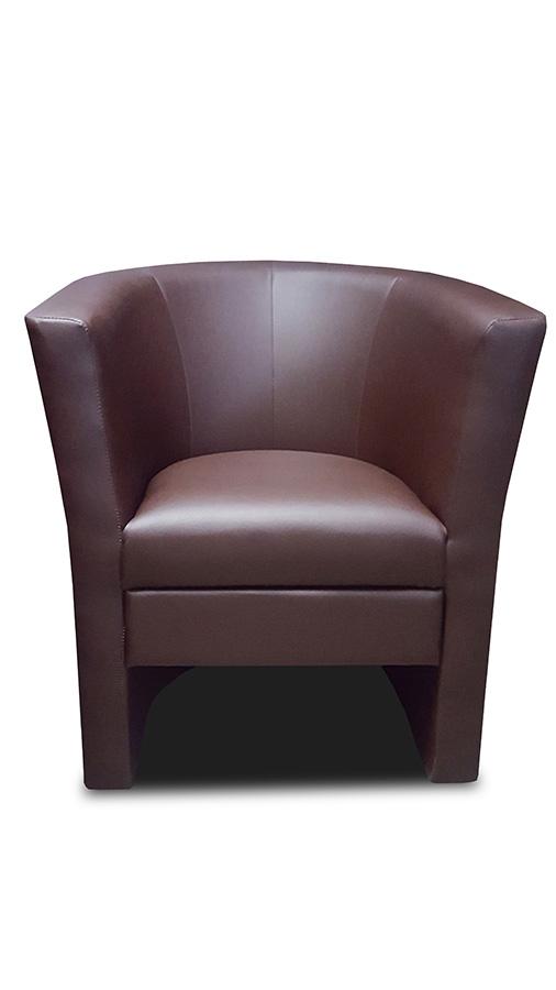 fotel bob brązowy