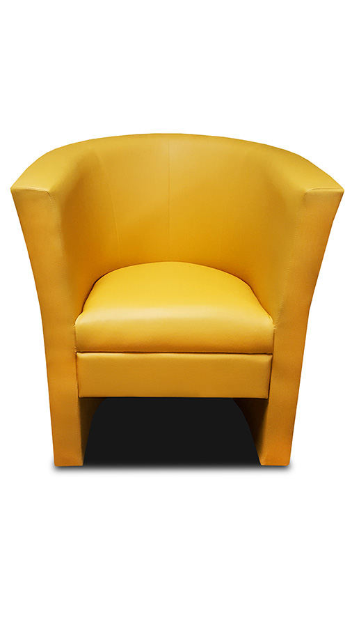 fotel bob żółty