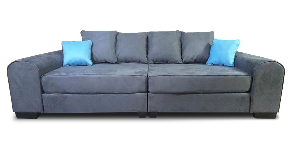 sofa bono tapicerowane poduszki szara