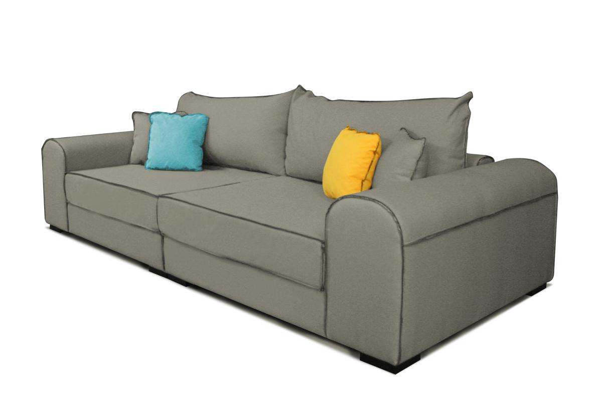 sofa bono szara poduszki emeble