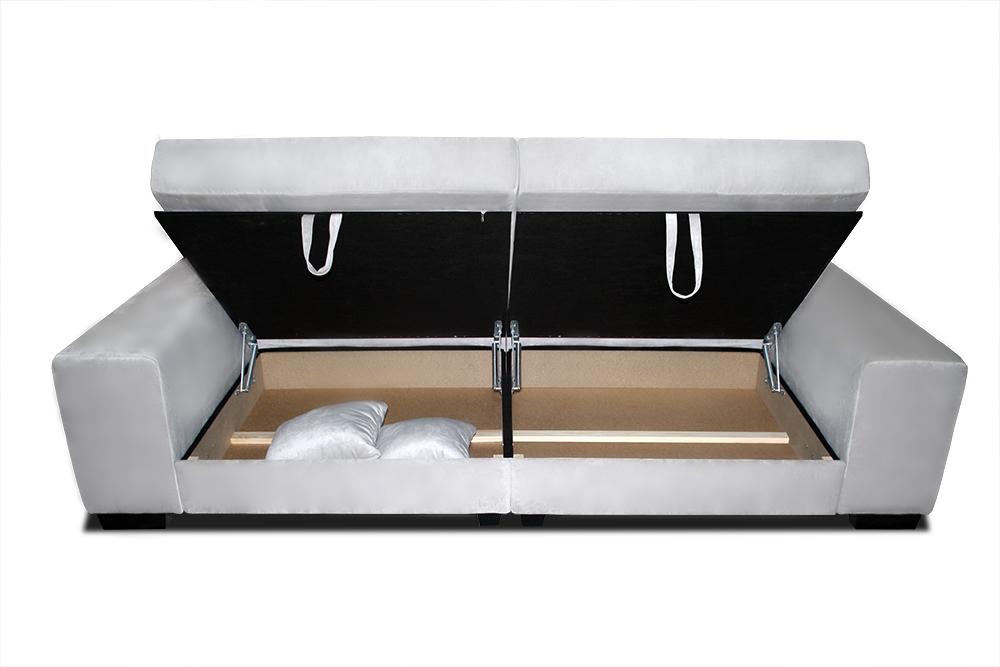 sofa bono otwarte 2 pojemniki na pościeli