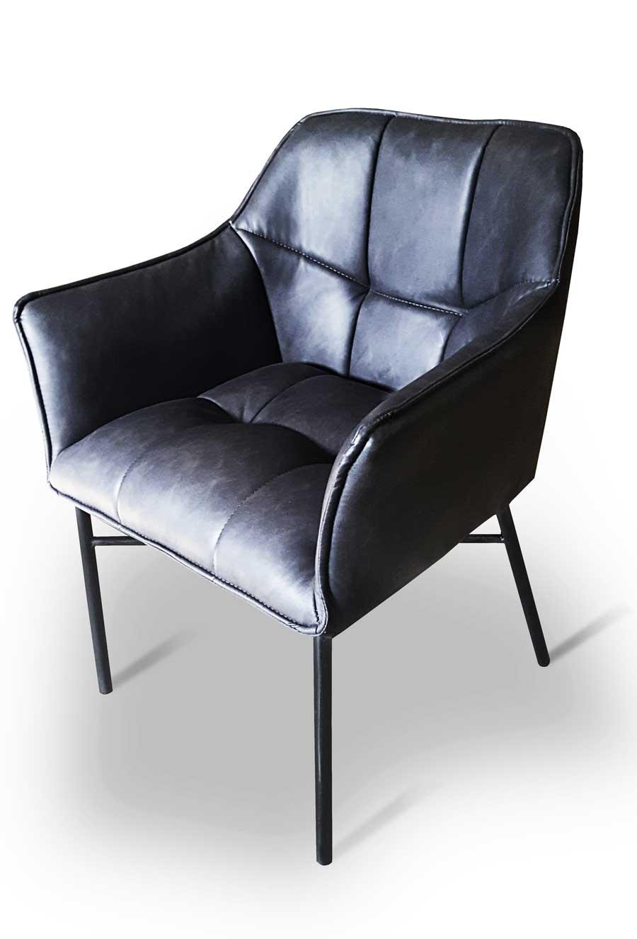 krzesło coffi metalowe nogi