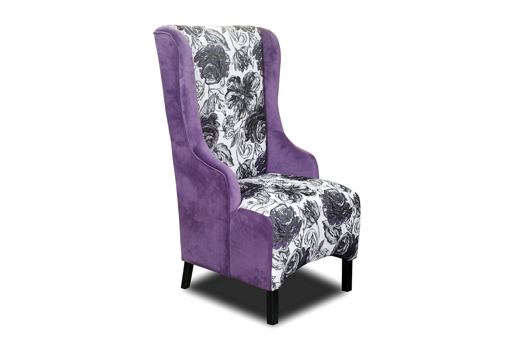 fotele fabio fioletowy emebletapicerowane