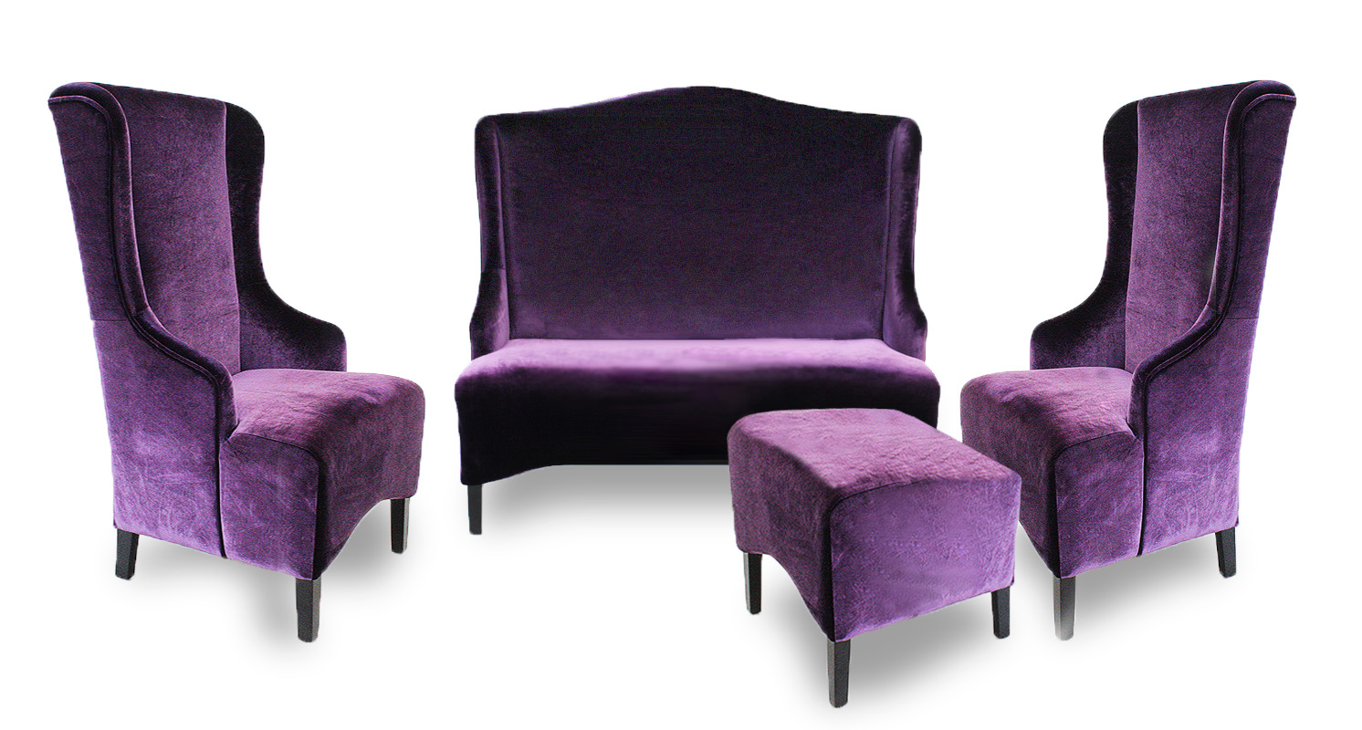 fotele fabio zestaw podnóżek