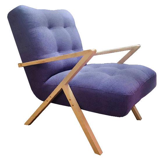 Sessel auf klaren Bein relax wood