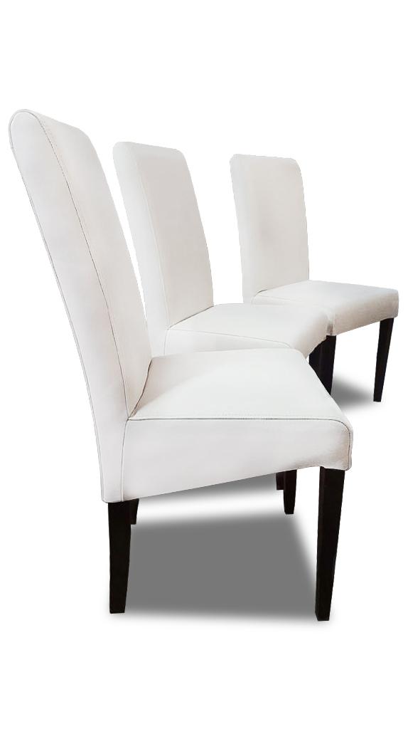 roos komplet krzesla białe z boku