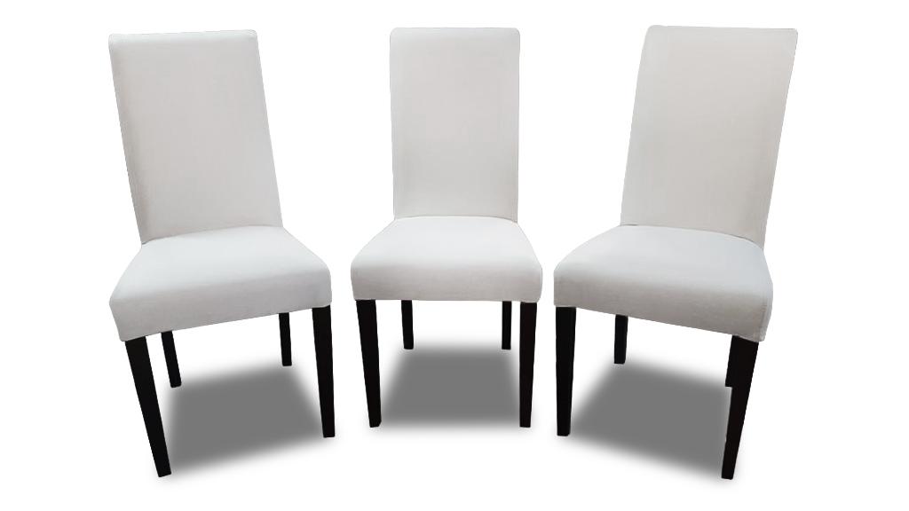 komplet ross krzesla białe z przodu