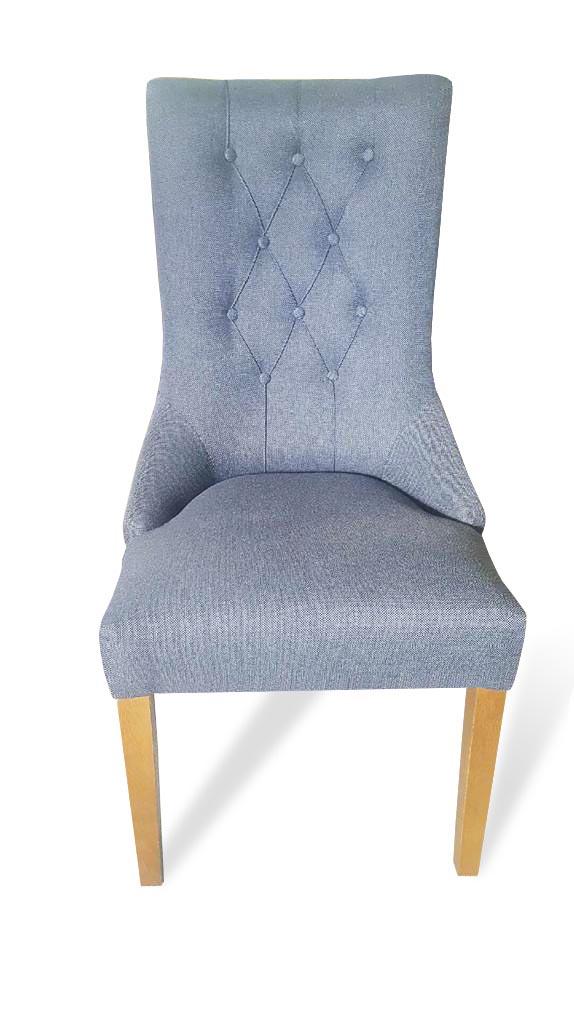 krzesła lancaster pikowane oparcie jasne