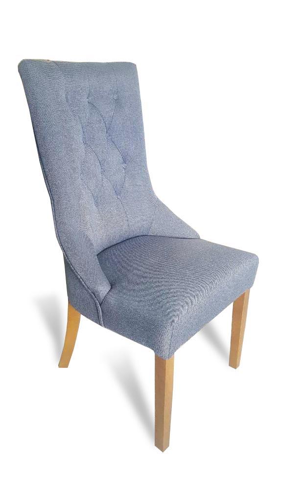 krzesło lancaster pikowane z boku