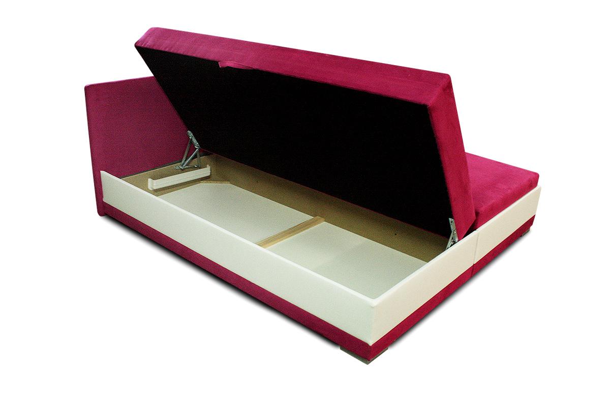 łóżko laura 160x200 cm tapicerowane pojemnik na pościel