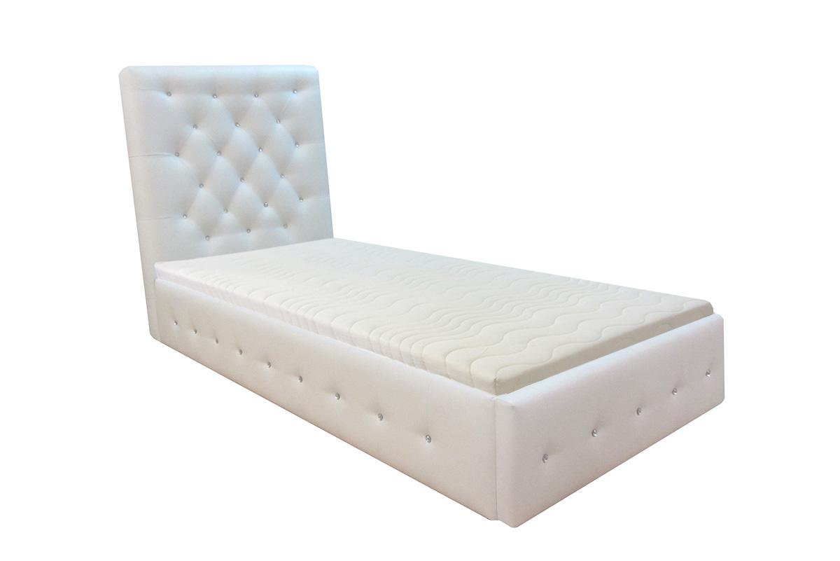 łóżko livorno 180 x 200 cm łóżko 90 cm białe materac