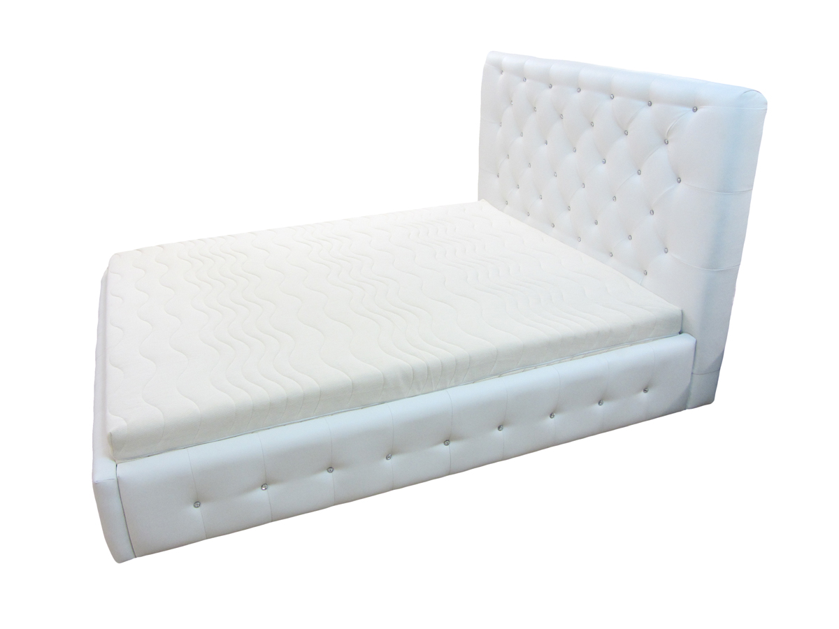 łóżko livorno 180 x 200 cm białe skos przód