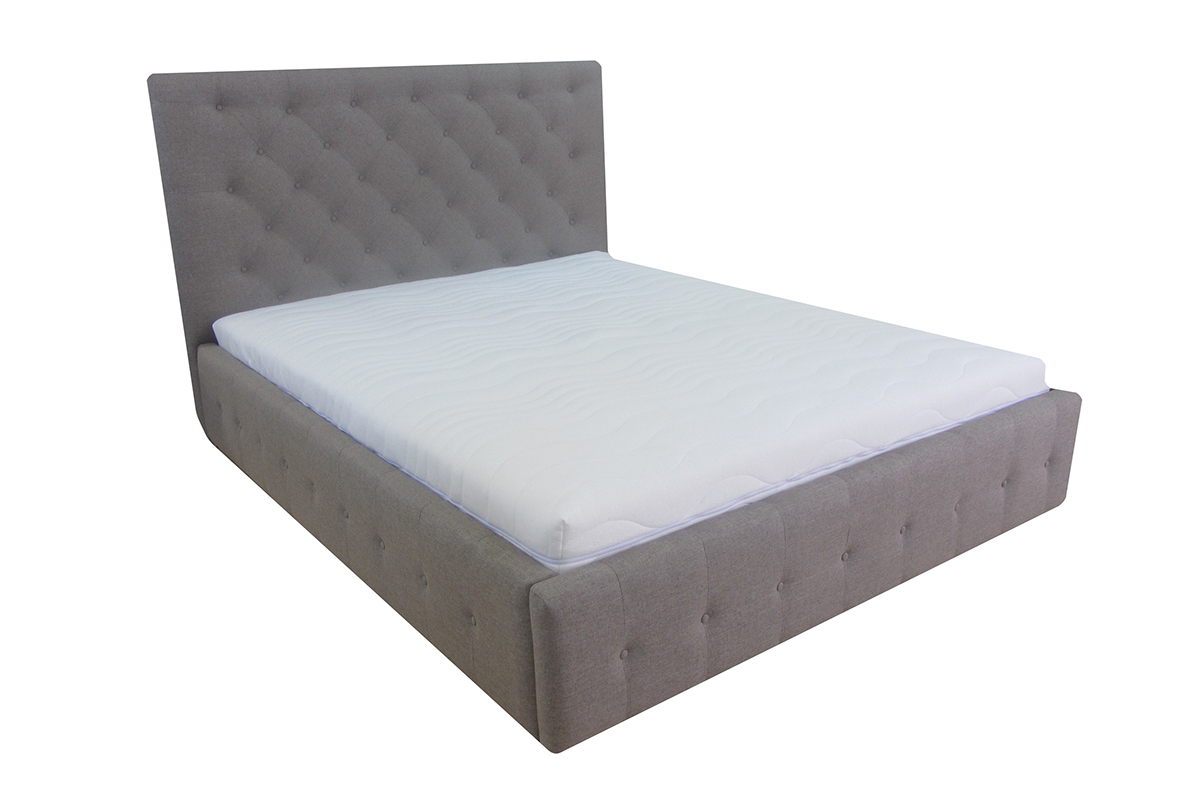 łóżko livorno 180 x 200 cm materiał ukos przód