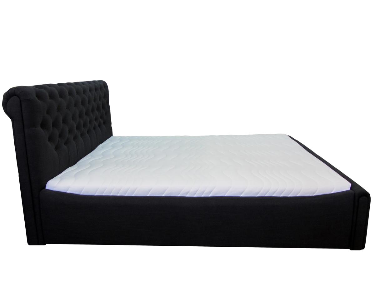 łóżko verona 120 x 200 cm czarna bok
