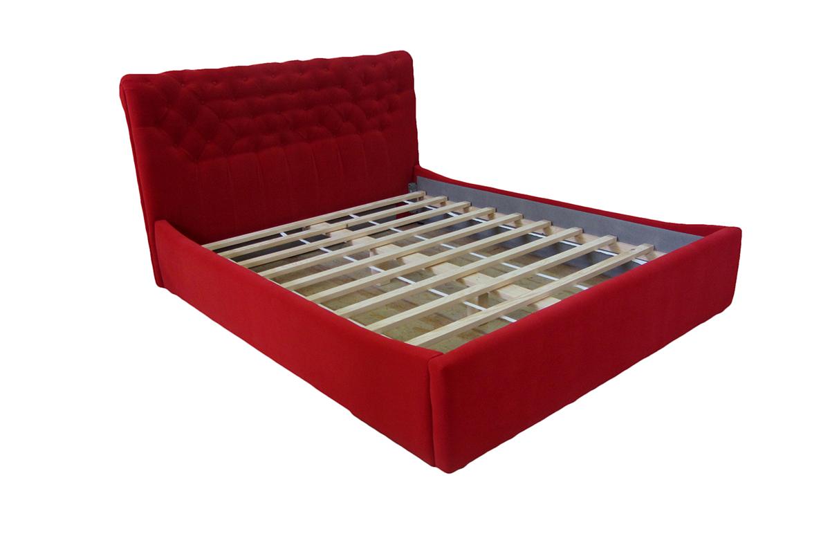 łóżko verona 120 x 200 cm czerwona bez materaca
