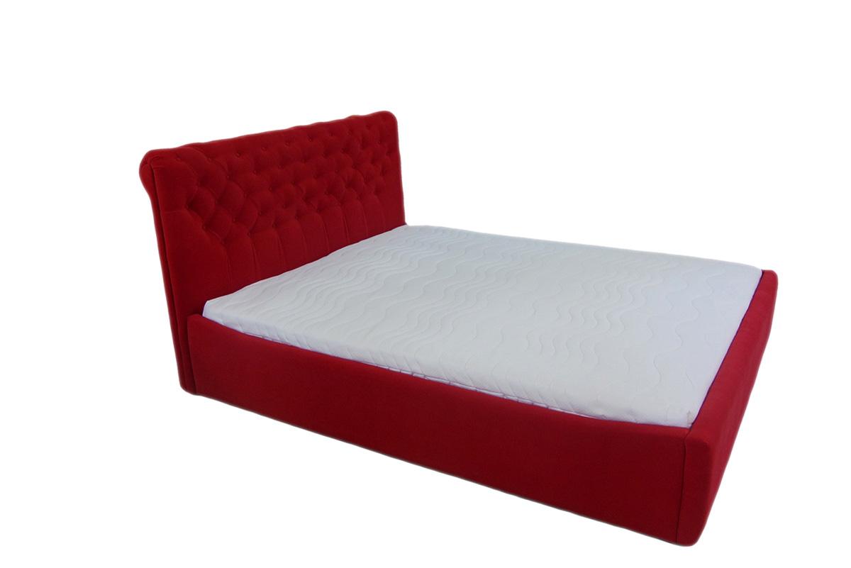 łóżko verona 120 x 200 cm czerwona skos
