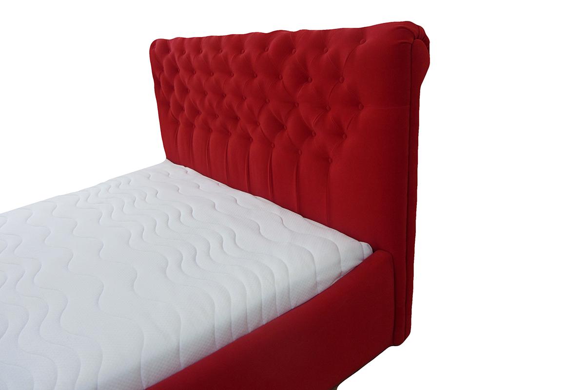 łóżko verona 120 x 200 cm czerwona wezgłowie