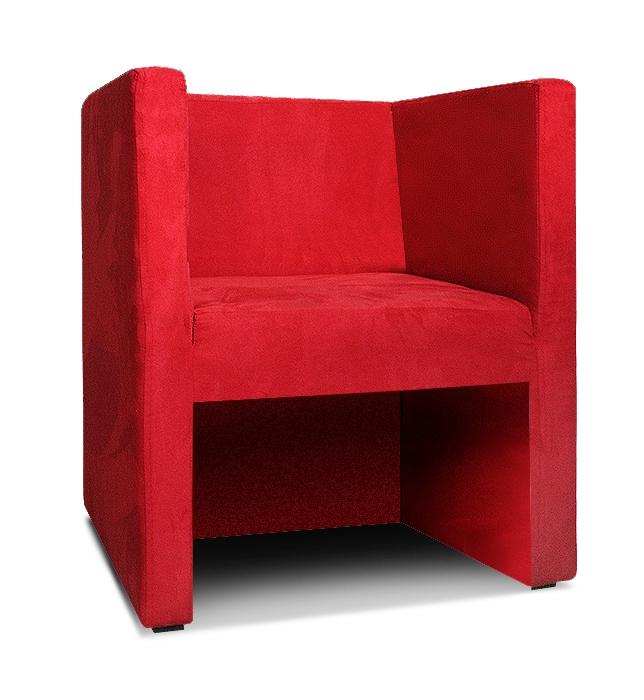 sessel marcelo czerwony niezabudowany bok