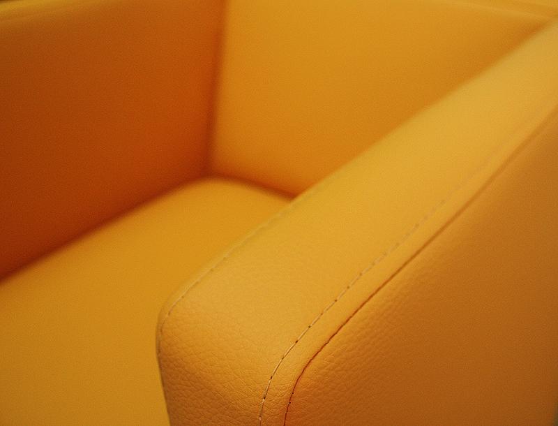 sessel marcelo żółty z bliska