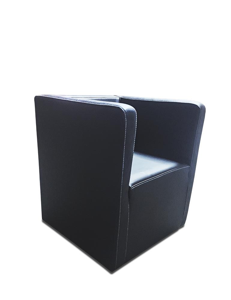 sessel marcelo czarny zabudowany bok