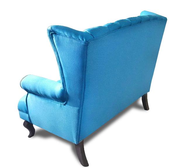 sofa Pellona niebieska tył