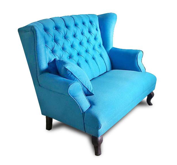 sofa Pellona niebieska bok