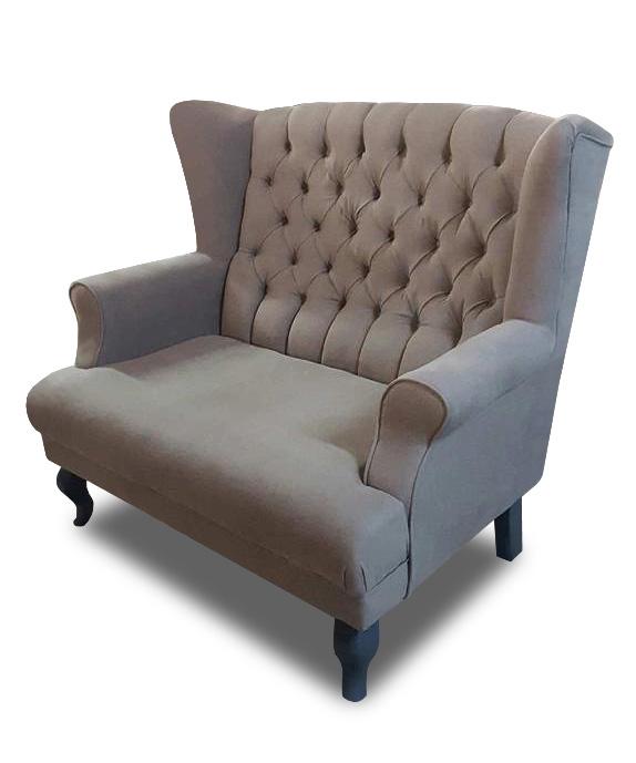 sofa Pellona brązowa bok