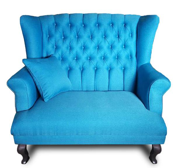 sofa Pellona niebieska przód