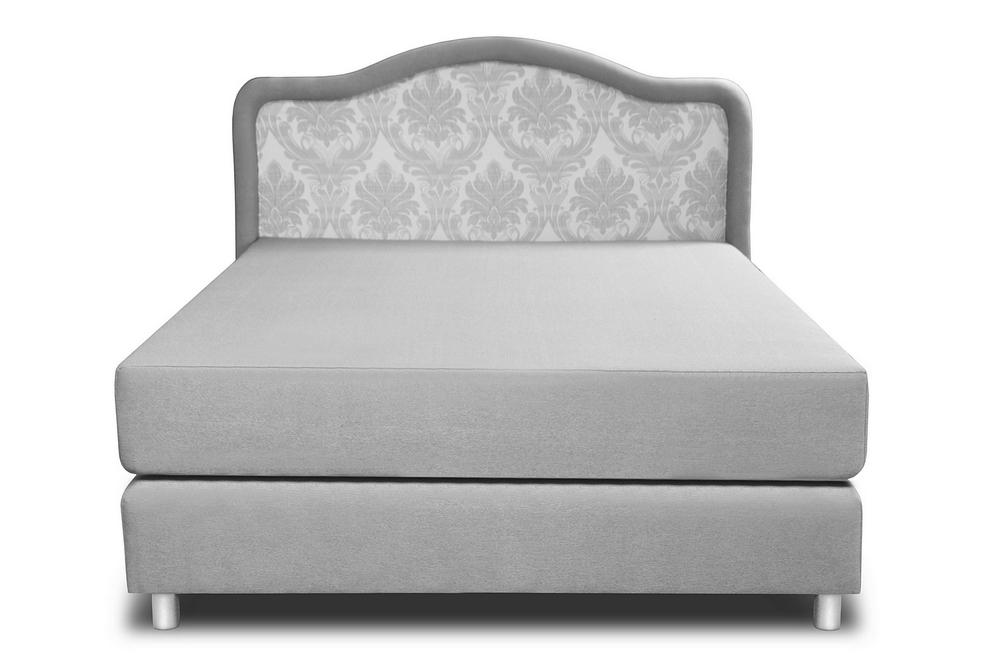 łóżko romans wave 90x200 cm szare przód