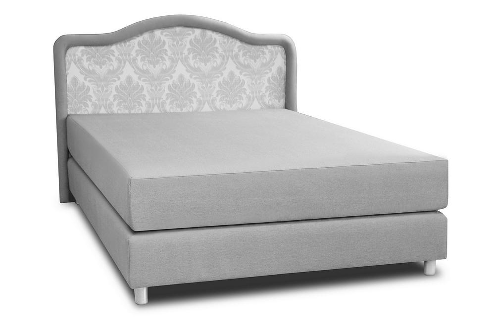 łóżko romans wave 90x200 cm szare ukos lewy