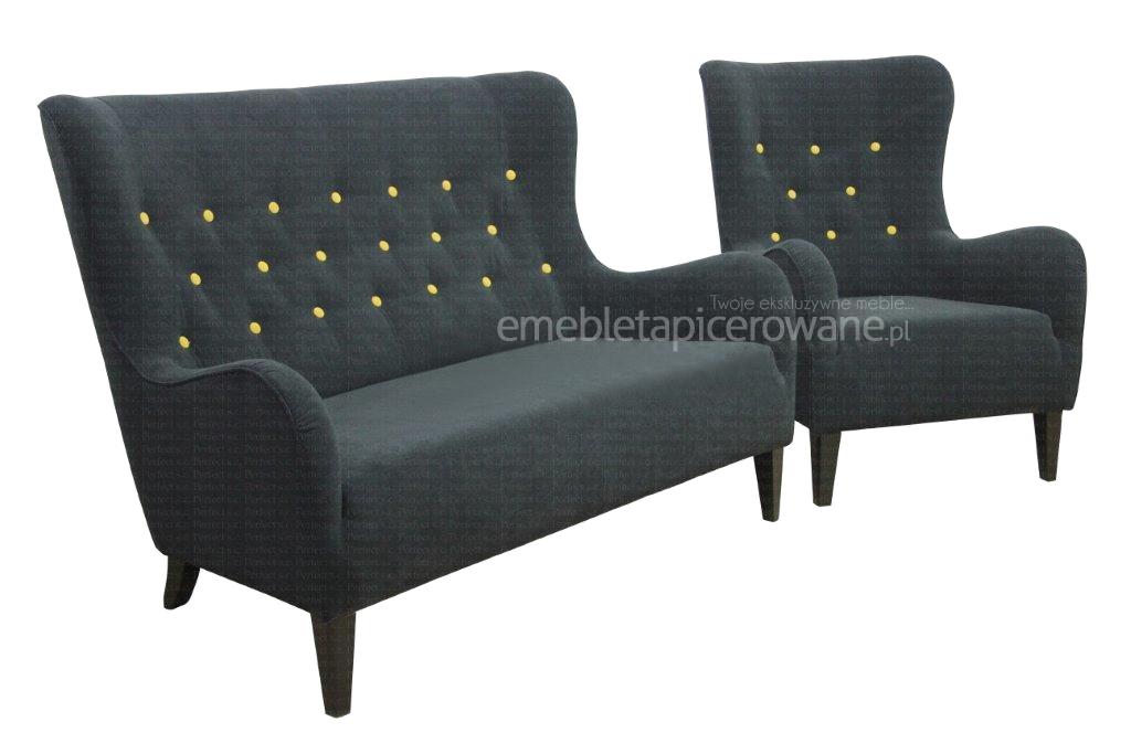sofa provo 2 osobowa z fotelem zestaw