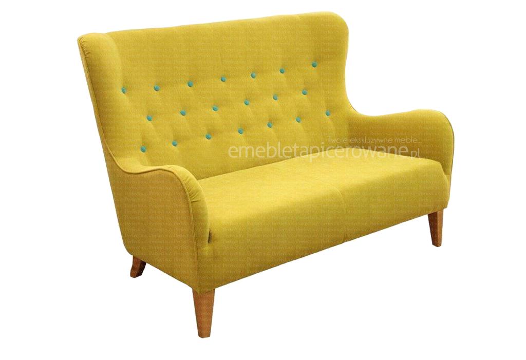 sofa provo 2 osobowa producent żółta