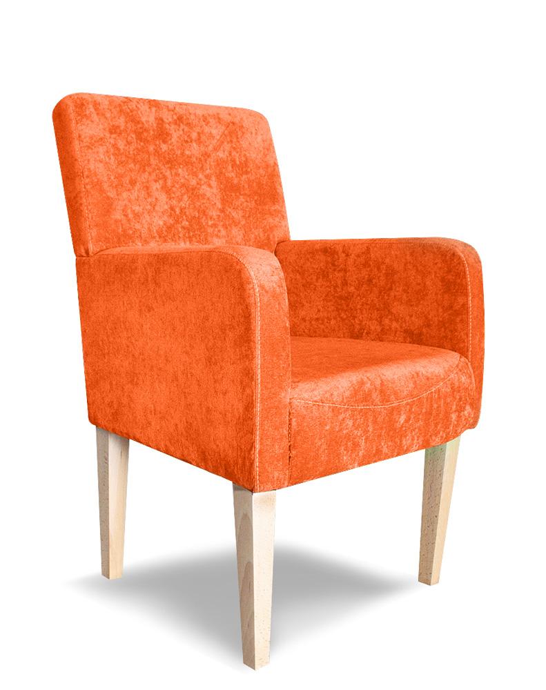 fotel styl plus pomarańczowy mebel